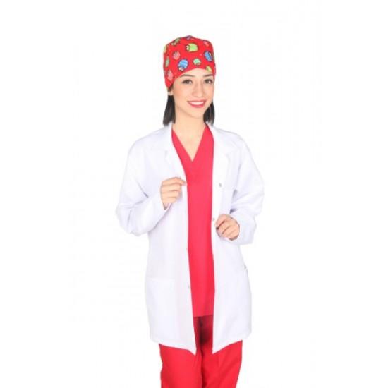 Bayan Klasik Yaka Orta Boy Doktor Önlüğü