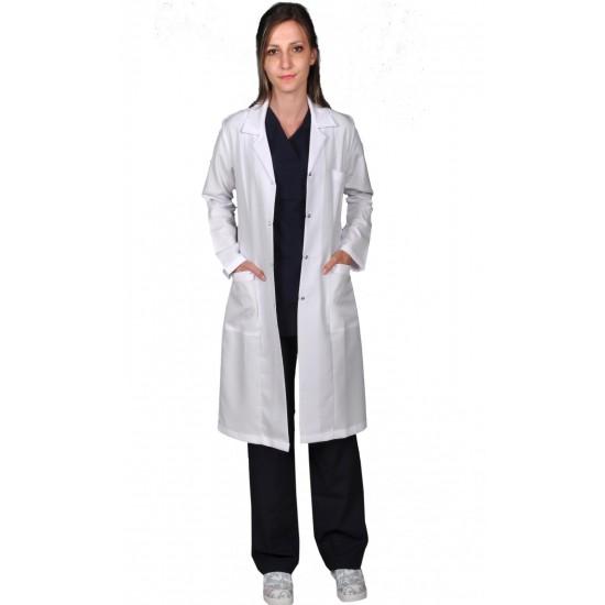 Bayan Klasik Yaka Uzun Boy Doktor Önlüğü